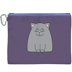Cat Minimalism Art Vector Canvas Cosmetic Bag (XXXL)