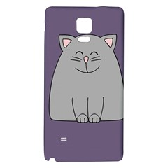 Cat Minimalism Art Vector Galaxy Note 4 Back Case