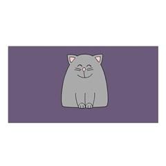 Cat Minimalism Art Vector Satin Shawl