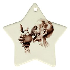 Zombie Apple Bite Minimalism Ornament (Star)
