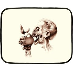 Zombie Apple Bite Minimalism Fleece Blanket (mini)