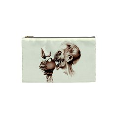 Zombie Apple Bite Minimalism Cosmetic Bag (small)