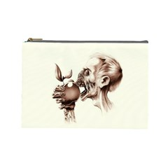 Zombie Apple Bite Minimalism Cosmetic Bag (large)