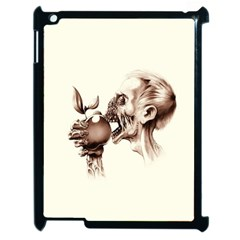 Zombie Apple Bite Minimalism Apple iPad 2 Case (Black)