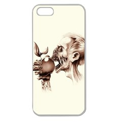 Zombie Apple Bite Minimalism Apple Seamless iPhone 5 Case (Clear)