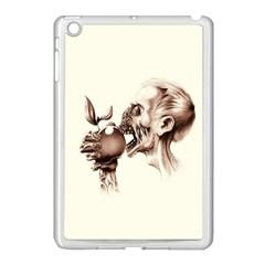 Zombie Apple Bite Minimalism Apple iPad Mini Case (White)