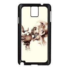 Zombie Apple Bite Minimalism Samsung Galaxy Note 3 N9005 Case (Black)