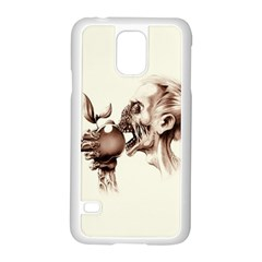 Zombie Apple Bite Minimalism Samsung Galaxy S5 Case (white)