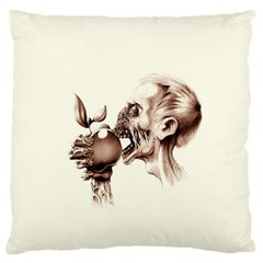 Zombie Apple Bite Minimalism Standard Flano Cushion Case (two Sides)