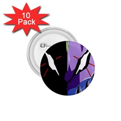 Monster Face Drawing Paint 1.75  Buttons (10 pack)