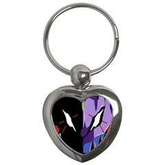 Monster Face Drawing Paint Key Chains (Heart)