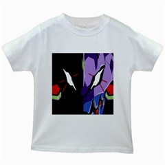 Monster Face Drawing Paint Kids White T Shirts