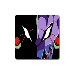 Monster Face Drawing Paint Square Magnet