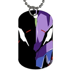 Monster Face Drawing Paint Dog Tag (One Side)
