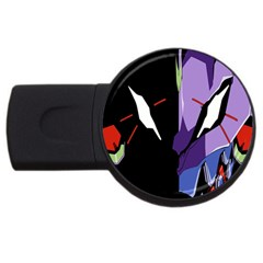 Monster Face Drawing Paint USB Flash Drive Round (1 GB)
