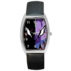 Monster Face Drawing Paint Barrel Style Metal Watch