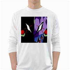 Monster Face Drawing Paint White Long Sleeve T Shirts