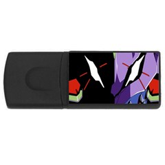 Monster Face Drawing Paint Usb Flash Drive Rectangular (4 Gb)