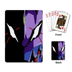 Monster Face Drawing Paint Playing Card