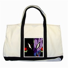 Monster Face Drawing Paint Two Tone Tote Bag