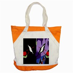 Monster Face Drawing Paint Accent Tote Bag