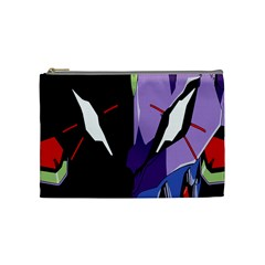 Monster Face Drawing Paint Cosmetic Bag (Medium)