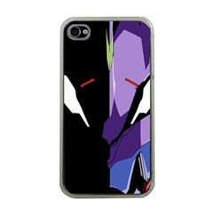 Monster Face Drawing Paint Apple iPhone 4 Case (Clear)
