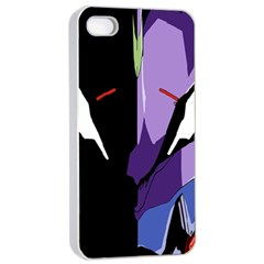 Monster Face Drawing Paint Apple iPhone 4/4s Seamless Case (White)
