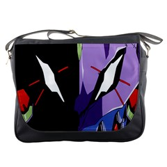 Monster Face Drawing Paint Messenger Bags