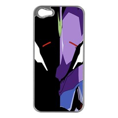 Monster Face Drawing Paint Apple iPhone 5 Case (Silver)