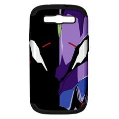 Monster Face Drawing Paint Samsung Galaxy S III Hardshell Case (PC+Silicone)