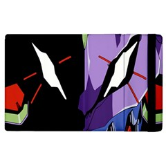 Monster Face Drawing Paint Apple iPad 3/4 Flip Case