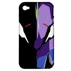 Monster Face Drawing Paint Apple iPhone 4/4S Hardshell Case (PC+Silicone)