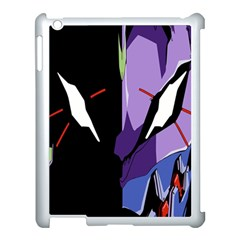 Monster Face Drawing Paint Apple iPad 3/4 Case (White)