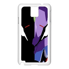 Monster Face Drawing Paint Samsung Galaxy Note 3 N9005 Case (White)