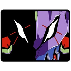 Monster Face Drawing Paint Double Sided Fleece Blanket (Large)