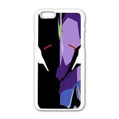Monster Face Drawing Paint Apple iPhone 6/6S White Enamel Case