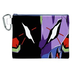 Monster Face Drawing Paint Canvas Cosmetic Bag (XXL)