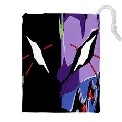 Monster Face Drawing Paint Drawstring Pouches (XXL)