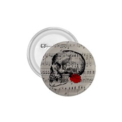 Skull and rose  1.75  Buttons