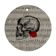 Skull and rose  Ornament (Round)