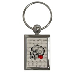 Skull and rose  Key Chains (Rectangle)