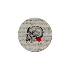 Skull and rose  Golf Ball Marker (10 pack)