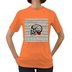 Skull and rose  Women s Dark T-Shirt
