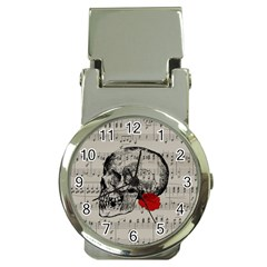 Skull and rose  Money Clip Watches