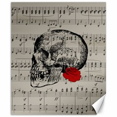 Skull and rose  Canvas 8  x 10