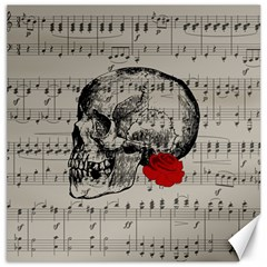 Skull And Rose  Canvas 12  X 12