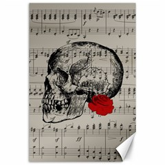 Skull and rose  Canvas 24  x 36
