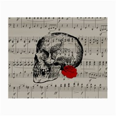 Skull and rose  Small Glasses Cloth (2-Side)