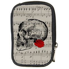 Skull and rose  Compact Camera Cases